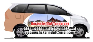 design pasang sticker mobil branding new avanza