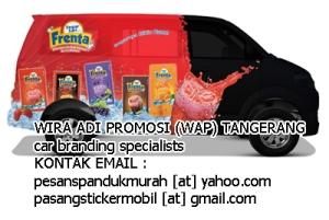 pasang sticker mobil branding