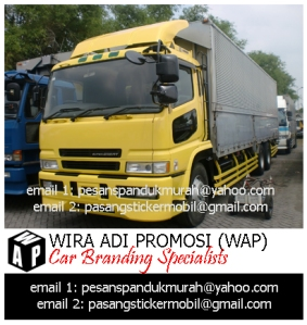 Pasang Sticker Branding Mobil WindBox Truck